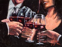 For a Better Life V (Red Wine) by Fabian Perez -  sized 18x14 inches. Available from Whitewall Galleries